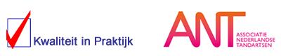 Logo Kwaliteit in Praktijk & Associatie Nederlandse Tandartsen